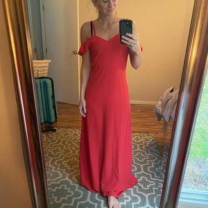 Extra Long Red Maxi Dress